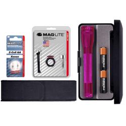 MagLite MiniMag 2 Cell AA Gift Kit, Pink M2AKYL-KIT