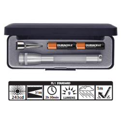 MagLite MiniMag 2 Cell AAA Flashlight M3A092, 116-755, GRAY, Gift Box