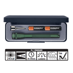 MagLite MiniMag 2 Cell AAA Flashlight M3A392, 116-578, DARK GREEN, Gift Box
