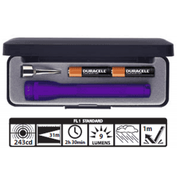 MagLite MiniMag 2 Cell AAA Flashlight M3A982, 116-580, *PURPLE, Gift Box