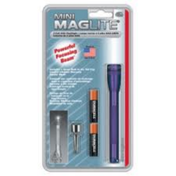 MagLite MiniMag 2 Cell AAA Flashlight M3A986, 116-848, *PURPLE