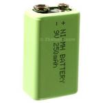 Rechargeable 8.4V 250mAh 9V Form NiMH Battery, MH-9V250