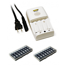 Maha Powerex 1-Hour Worldwide Travel AA/AAA NiMH Charger w/16 AA Imedion Batteries, MH-C204W16AAI