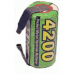 Sub-C Cell 1.2V NiMH 4200mah Rechargeable Batteries, w/ Soldering Tabs, MH-SC4200TPZ
