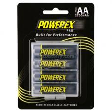 Maha Powerex PRO AA NiMH 2700mAh Rechargeable Batteries w/Holder 4-pack, MHRAA4PRO