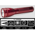 Maglite ML25IT Xenon 2C Cell Maglite Flashlight, ML25IT-2036, 186-047, Red