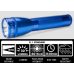 Maglite ML25IT Xenon 2C Cell Maglite Flashlight, ML25IT-2116, 186-050, Blue