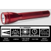 Maglite ML25IT Xenon 3C Cell Maglite Flashlight, ML25IT-3036, 186-077, Red