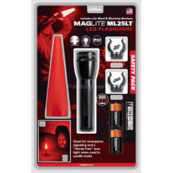 Maglite ML25LT 2C LED Flashlight Safety Pack, Black