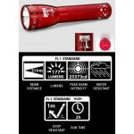 Maglite ML25LT 2C Cell LED Flashlight, ML25LT-S2SN6, Collectible Liberty Bell, Red