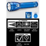 Maglite ML25LT 2C Cell LED Flashlight, ML25LT-S2SQ6, Collectible Statue of Liberty, Blue
