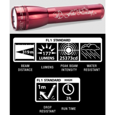 Maglite ML25LT 2C Cell LED Flashlight, ML25LT-S2TC5, Collectible Feliz Navidad, Red
