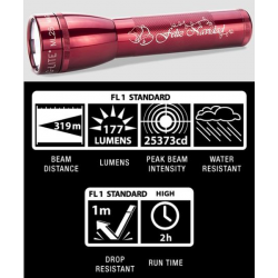 Maglite ML25LT 2C LED Flashlight, ML25LT-S2TC5, Collectible Feliz Navidad, Red