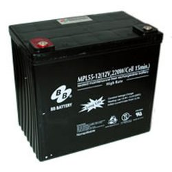 BB Battery, MPL55-12I2, 12V 53Ah Sealed Lead Acid Battery