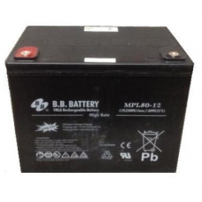 BB Battery, MPL80-12I2, 12V 78Ah Sealed Lead Acid Battery