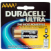 Duracell Ultra AAAA Alkaline Battery, 2/Card, MX2500B2PK