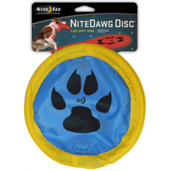Nite Ize Nite Dawg LED Soft Disc, BLUE Paw Design NDD-03-51