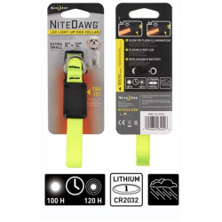 Nite Ize NIte Dawg XS LED Dog Collar Neon Yellow