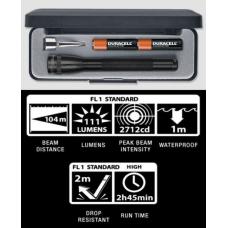 Maglite MiniMag 2 Cell AAA LED Flashlight P32012, 156-042, BLACK, Gift Box