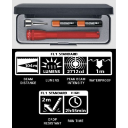Maglite 2AAA MiniMag LED Gift Box, P32032, Red