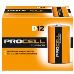 Duracell Procell D PC1300 Alkaline Battery, 12/Carton, PC1300-12