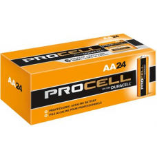 Duracell Procell AA PC1500 Alkaline Battery, 24/Carton, PC1500-24
