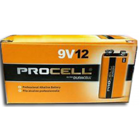 Duracell Procell 9V PC1604 Alkaline Battery, 12/Carton