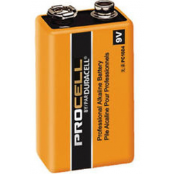 Duracell Procell 9V PC1604 Alkaline Battery, 72/Case, PC1604-72