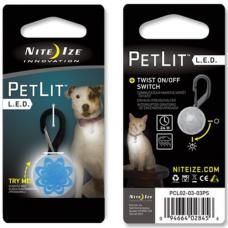 Nite Ize PetLit Collar LED, Blue Burst Design White LED