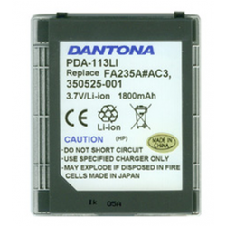 Compaq 6300 3.7V 1800mAh Li-Ion PDA (or MP3) Battery, PDA-113LI