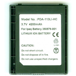 COMPAQ 6300 3.7V 4200mAh Li-Ion PDA (or MP3) Battery, PDA-113LI-HC