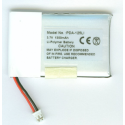 Sony M1 3.7V 1300mAh Li-Poly PDA/MP3 Battery, PDA-125LI