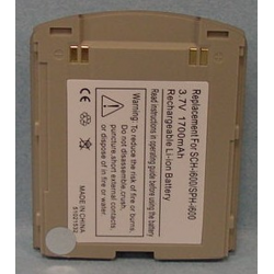 Samsung SPH-i600 3.7V 1700mAh Li-Ion PDA/MP3 Battery, PDA-131LI