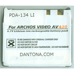 Archos 300360 3.7V 2000mAh Li-Ion PDA/MP3 Battery, PDA-134LI