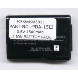 Kyocera 6035 3.7V 1500mAh Li-Ion PDA (or MP3) Battery, PDA-15LI