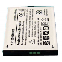 Sansa E250 3.7V 650mAh Li-Ion PDA Battery, PDA-168LI