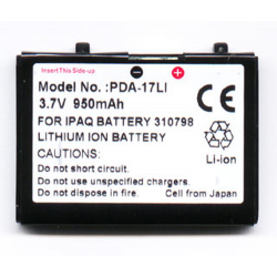 Compaq 2100 3.7V 900mAh Li-Ion PDA (or MP3) Battery, PDA-17LI