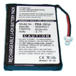 TOMTOM GPS-9821X 3.7v 650mah Li-Ion Battery, PDA-191LI