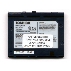 Toshiba E800 3.7V 1320mAh Li-Ion PDA (or MP3) Battery, PDA-50LI