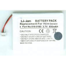 iPod 4th Gen 3.7V 830mAh Li-Ion PDA/MP3 Battery, PDA-94LI