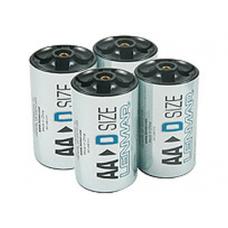 Lenmar D Cell Adapter for AA Batteries, 4/Pack PROAA2D