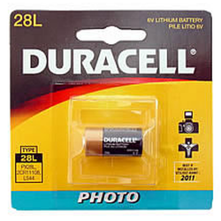 Duracell PX28L, 3N 6v Lithium Photo Battery, PX28LBPK