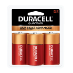 Duracell Quantum D Cell Alkaline Battery with Hi-Density Core and PowerCheck, 3 pack, QU1300B3Z