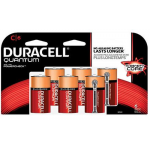Duracell Quantum C Cell Alkaline Battery with Hi-Density Core and PowerCheck, 6 pack, QU1400B6Z