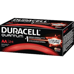 Duracell Quantum AA Alkaline 1.5v with Hi-Density Core and PowerCheck, QU1500-24