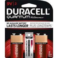 Duracell Quantum 9 Volt Alkaline Battery, 2 pack
