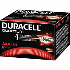 Duracell Quantum AAA Alkaline 1.5v with Hi-Density Core and PowerCheck, QU2400-24