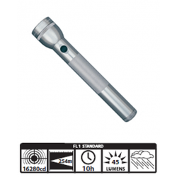 Maglite 3D Incandescent Flashlight, S3D096, Gray
