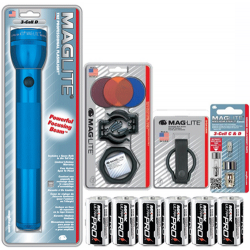 3 D Cell MagLite Gift Kit, Blue S3D116-KIT