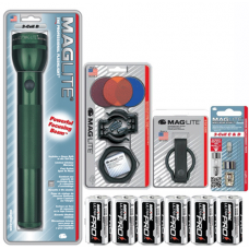 3 D Cell MagLite Gift Kit, Green S3D396-KIT